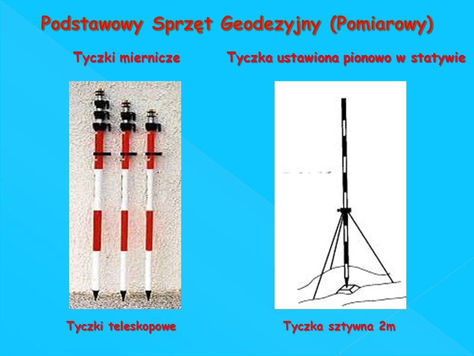 Tyczki miernicze Tyczka ustawiona pionowo w statywie Tyczki teleskopowe Tyczka sztywna 2m