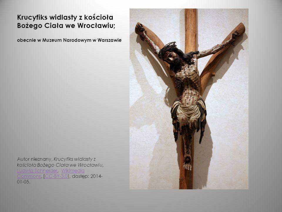 Krucyfiks widlasty z kościoła Bożego Ciała we Wrocławiu; obecnie w Muzeum Narodowym w Warszawie Autor nieznany, Krucyfiks widlasty z kościoła Bożego C
