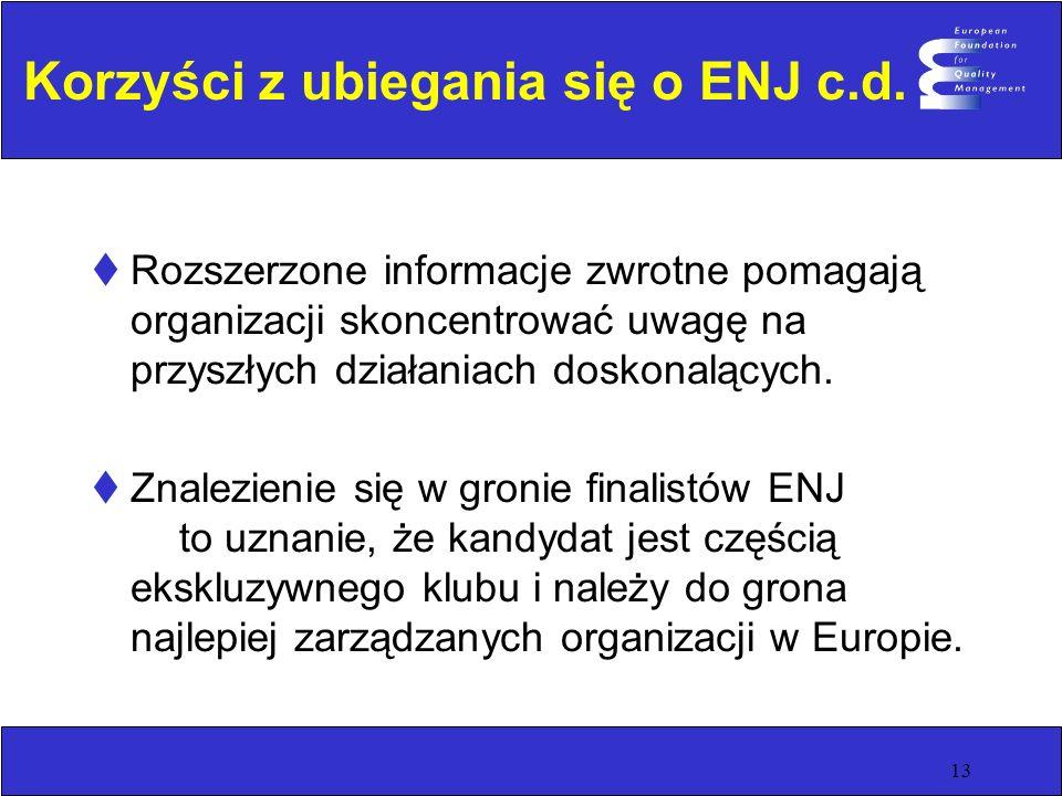 13 Korzyści z ubiegania się o ENJ c.d.
