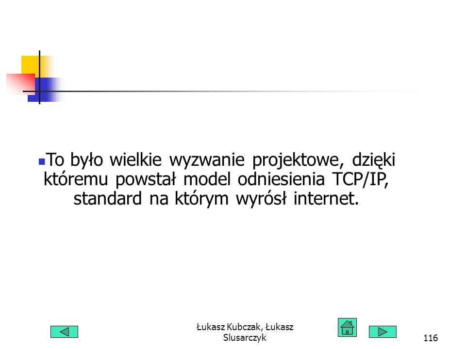 Łukasz Kubczak, Łukasz Slusarczyk116 To było wielkie wyzwanie projektowe, dzięki któremu powstał model odniesienia TCP/IP, standard na którym wyrósł internet.
