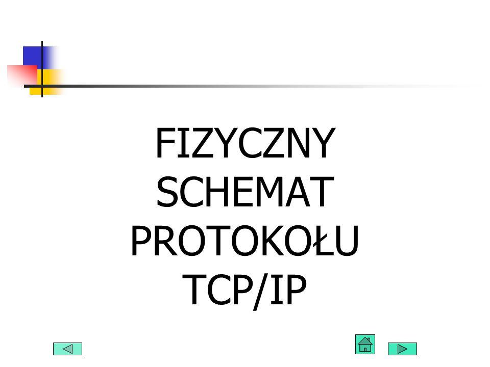 FIZYCZNY SCHEMAT PROTOKOŁU TCP/IP