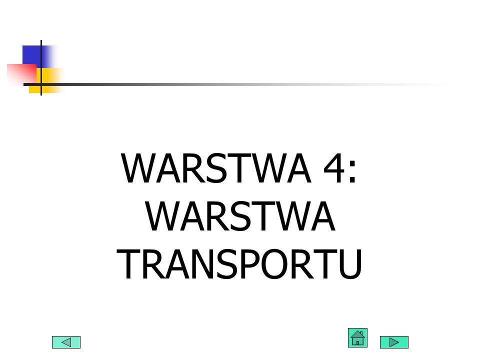 WARSTWA 4: WARSTWA TRANSPORTU