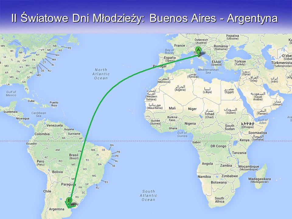 II Światowe Dni Młodzieży: Buenos Aires - Argentyna