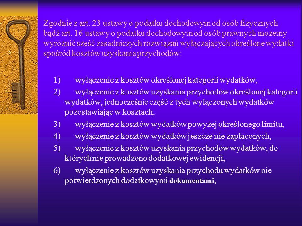 Zgodnie z art.23 ustawy o podatku dochodowym od osób fizycznych bądź art.