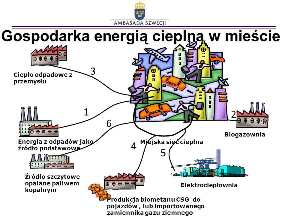 Gospodarka energią cieplną w mieście Biogazownia Elektrociepłownia Energia z odpadów jako źródło podstawowe Produkcja biometanu CSG do pojazdów, lub i