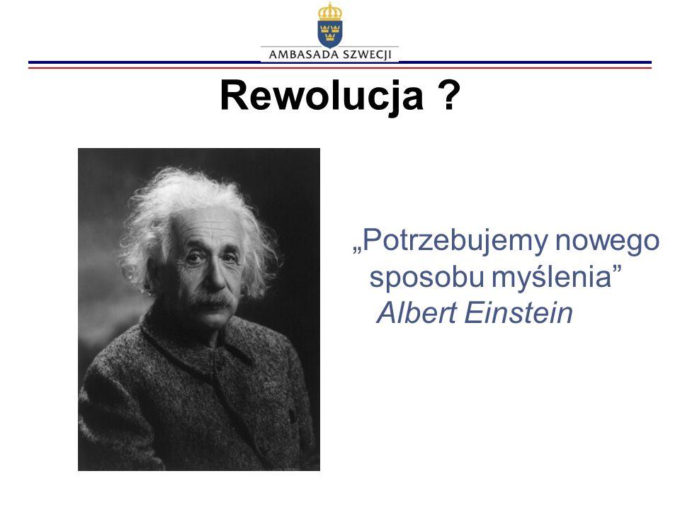 Rewolucja ? Potrzebujemy nowego sposobu myślenia Albert Einstein