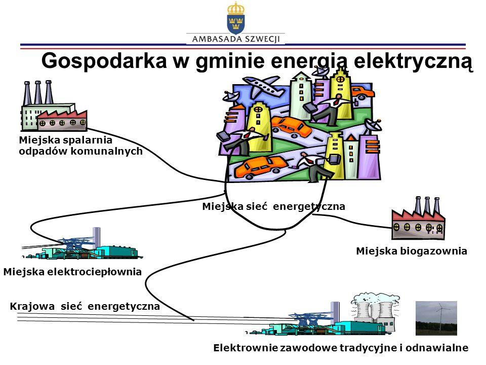 Gospodarka w gminie energią elektryczną Miejska biogazownia Miejska elektrociepłownia Miejska spalarnia odpadów komunalnych Miejska sieć energetyczna