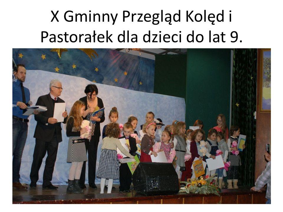 X Gminny Przegląd Kolęd i Pastorałek dla dzieci do lat 9.