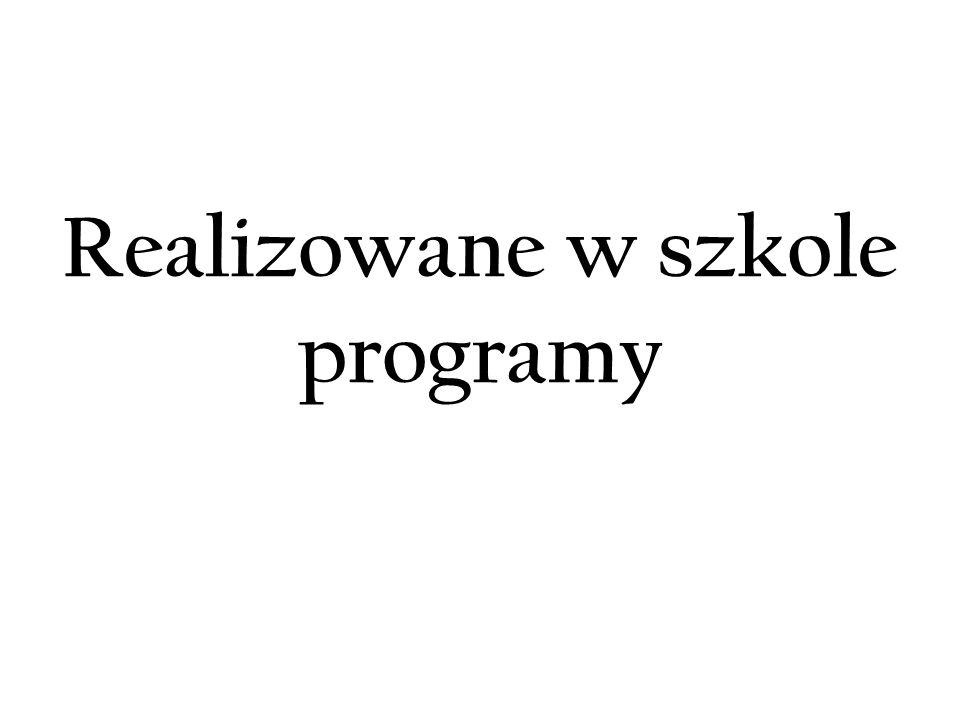 Realizowane w szkole programy