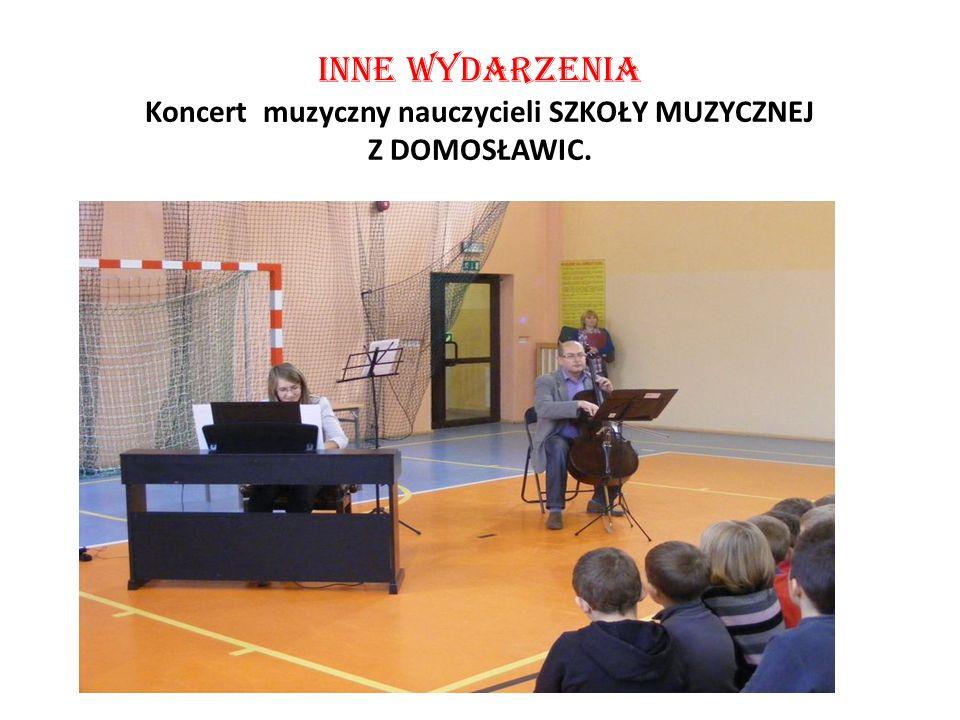 INNE Wydarzenia Koncert muzyczny nauczycieli SZKOŁY MUZYCZNEJ Z DOMOSŁAWIC.