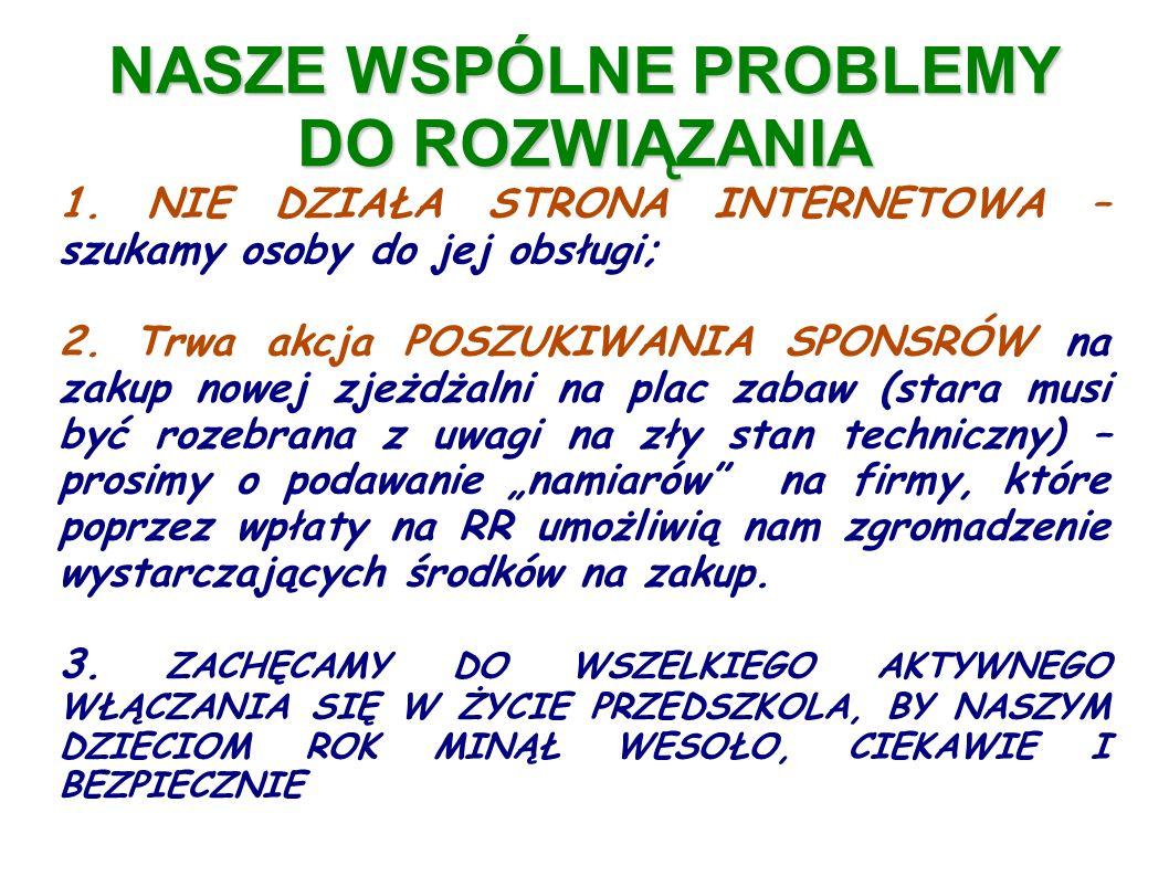 NASZE WSPÓLNE PROBLEMY DO ROZWIĄZANIA 1.