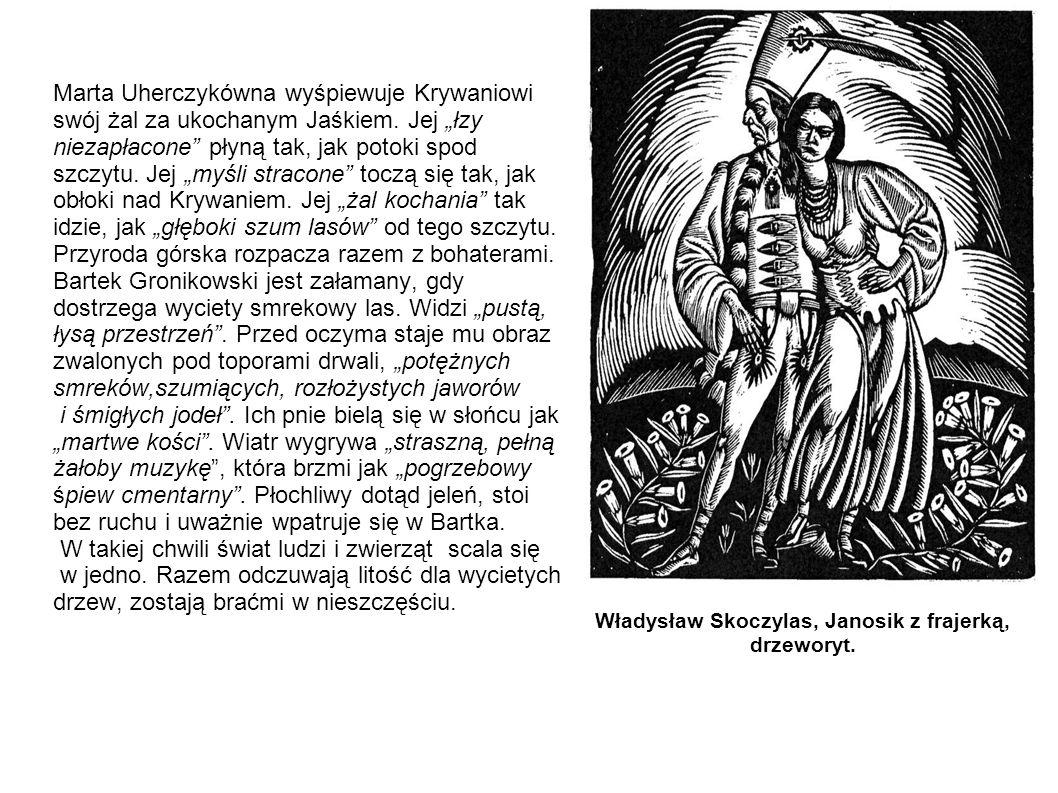 Marta Uherczykówna wyśpiewuje Krywaniowi swój żal za ukochanym Jaśkiem. Jej łzy niezapłacone płyną tak, jak potoki spod szczytu. Jej myśli stracone to