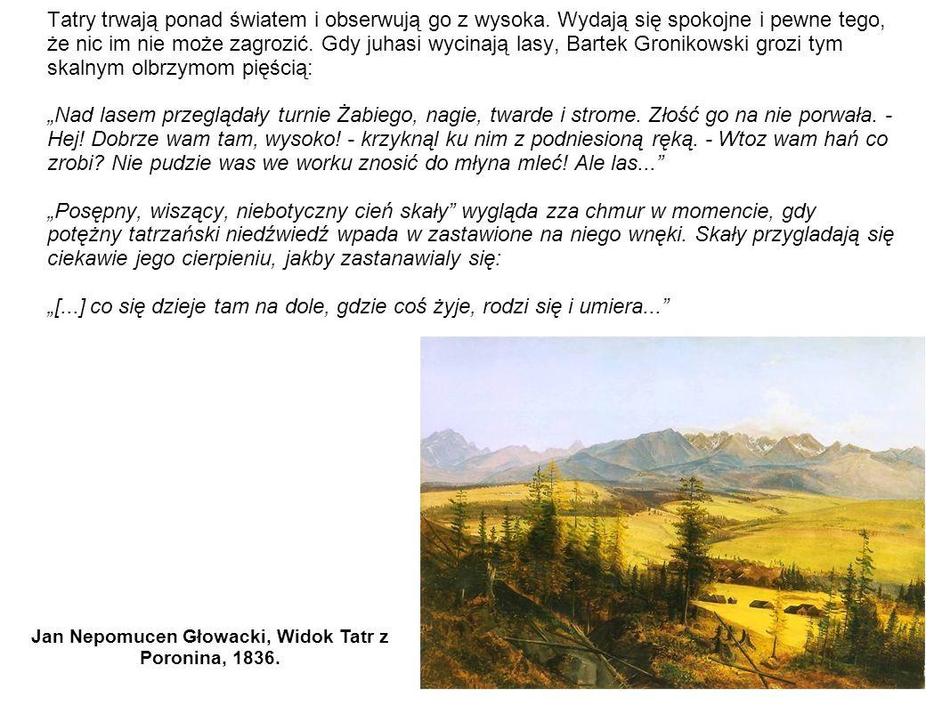 Tatry trwają ponad światem i obserwują go z wysoka. Wydają się spokojne i pewne tego, że nic im nie może zagrozić. Gdy juhasi wycinają lasy, Bartek Gr
