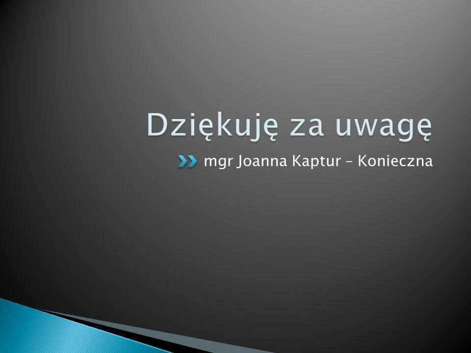 mgr Joanna Kaptur – Konieczna