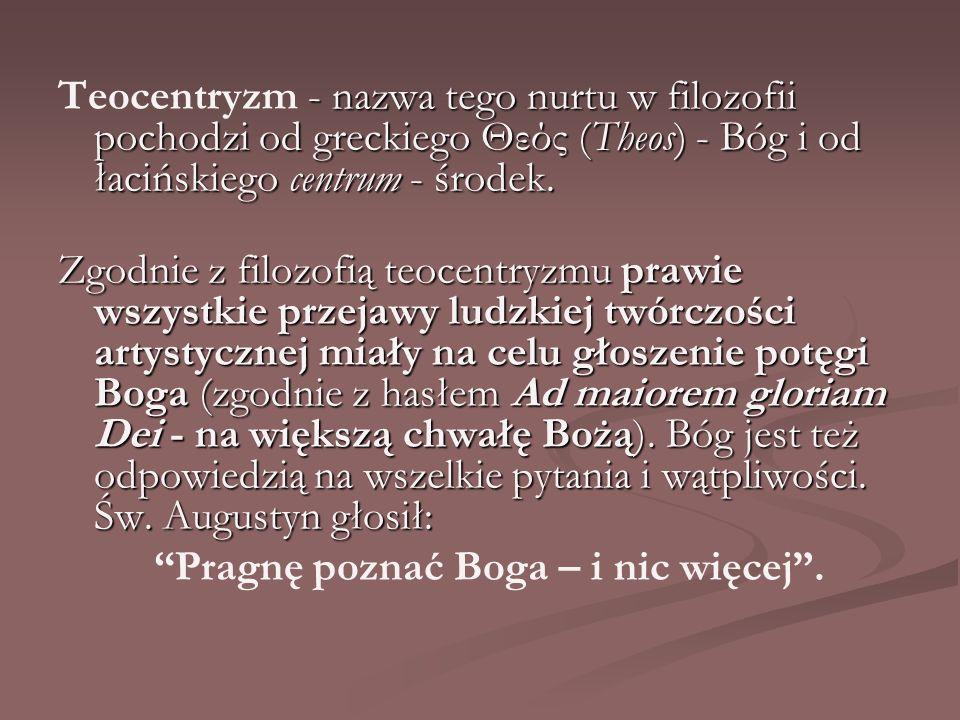 Dzieła literackie V w.– O państwie Bożym św. Augustyna X – XI w.