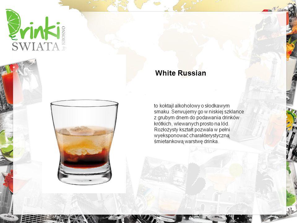 to koktajl alkoholowy o słodkawym smaku. Serwujemy go w niskiej szklance z grubym dnem do podawania drinków krótkich, wlewanych prosto na lód. Rozłoży