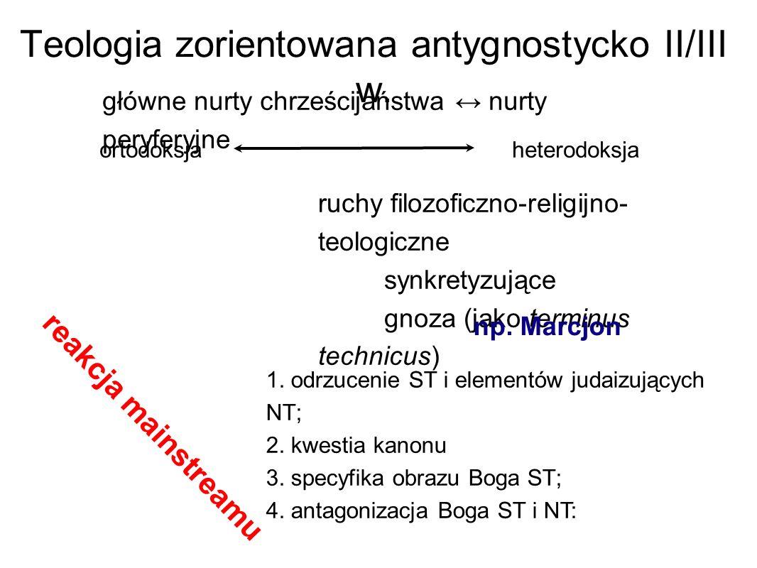 Teologia zorientowana antygnostycko II/III w.