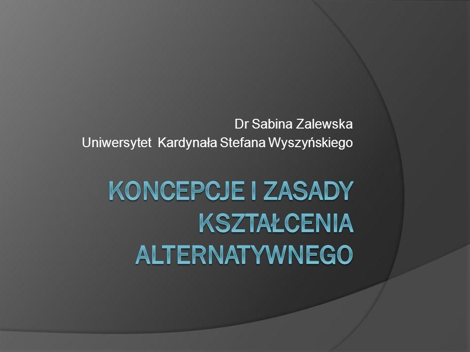 Dr Sabina Zalewska Uniwersytet Kardynała Stefana Wyszyńskiego