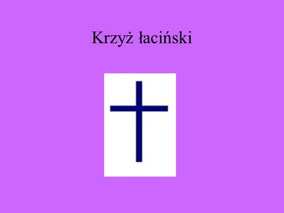 Krzyż (z łac. crux) – znak, kształt lub przedmiot w postaci dwóch linii przecinających się, na ogół pod kątem prostym. Jest jednym z najstarszych symb