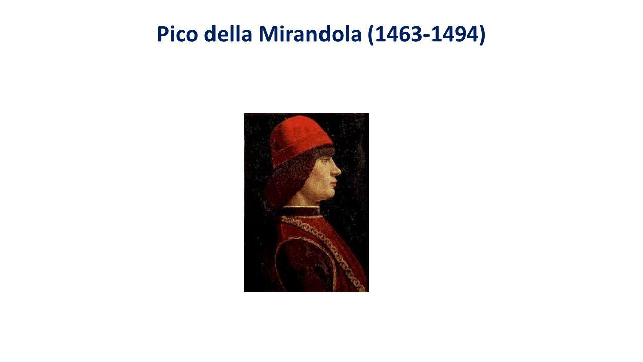 Główne dzieła: Mowa o godności człowieka (De hominis dignitate), Heptaplus, De ente et uno Wydane drukiem w Opera omnia, 1557