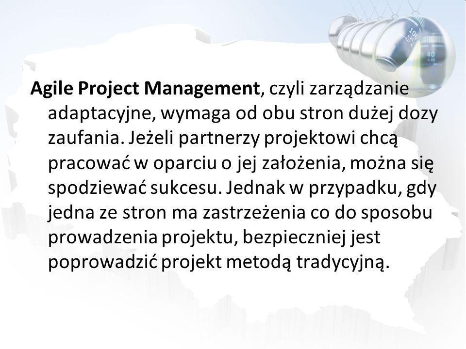 Agile Project Management, czyli zarządzanie adaptacyjne, wymaga od obu stron dużej dozy zaufania. Jeżeli partnerzy projektowi chcą pracować w oparciu