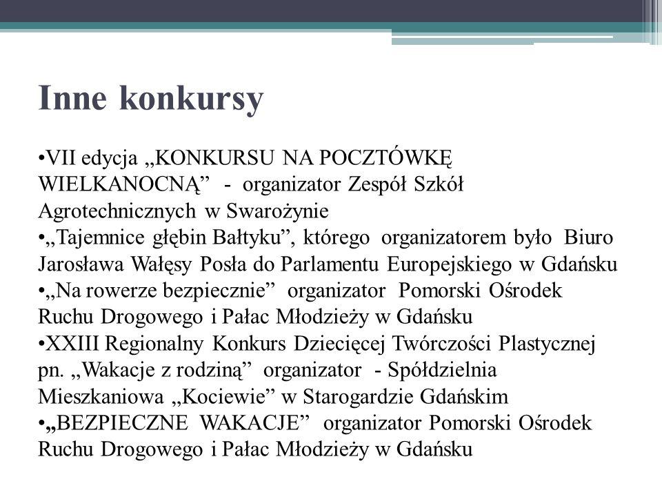 Inne konkursy VII edycja KONKURSU NA POCZTÓWKĘ WIELKANOCNĄ - organizator Zespół Szkół Agrotechnicznych w Swarożynie Tajemnice głębin Bałtyku, którego