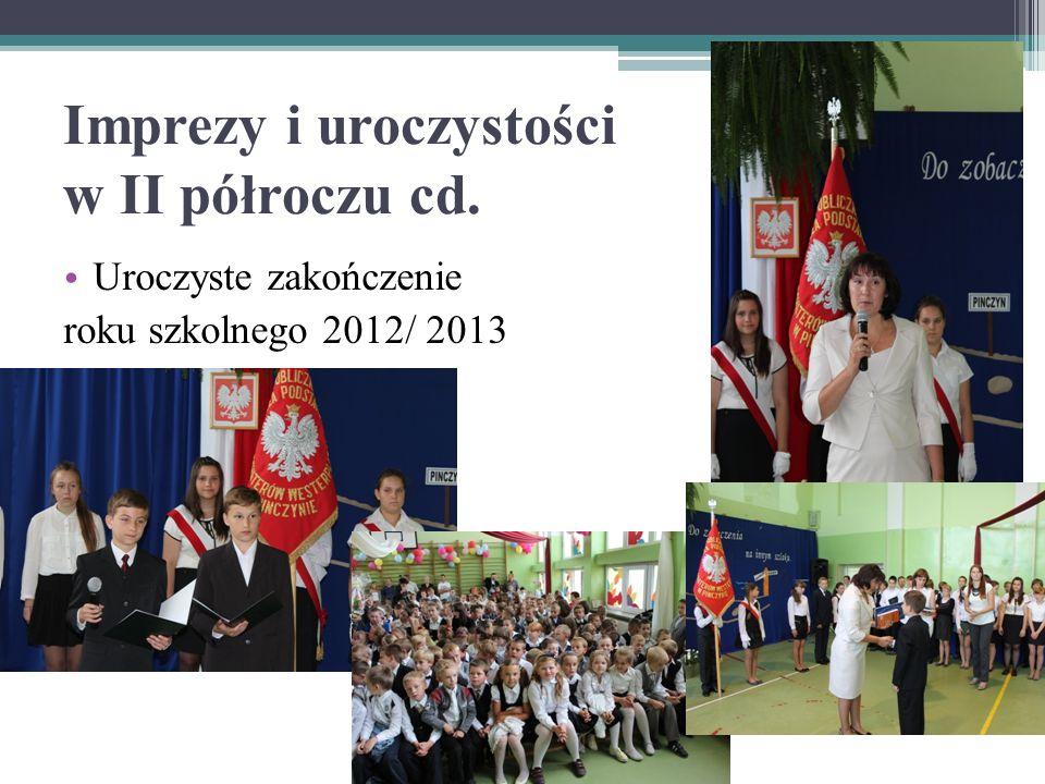 Uroczyste zakończenie roku szkolnego 2012/ 2013