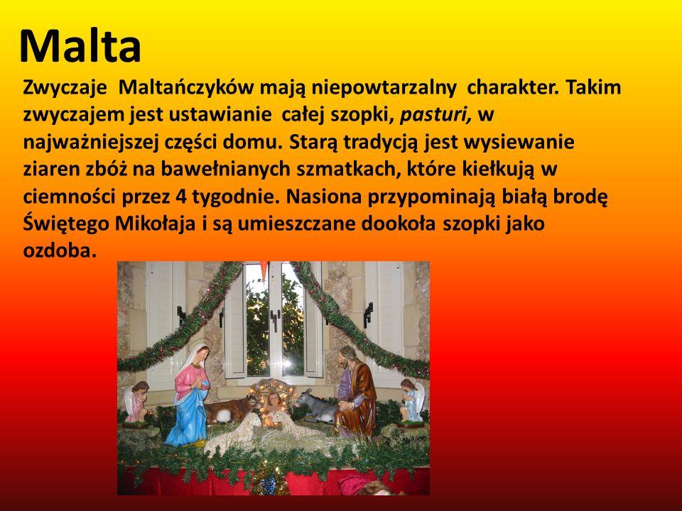 Malta Zwyczaje Maltańczyków mają niepowtarzalny charakter. Takim zwyczajem jest ustawianie całej szopki, pasturi, w najważniejszej części domu. Starą