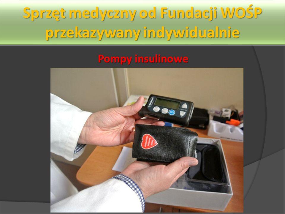 Sprzęt medyczny od Fundacji WOŚP przekazywany indywidualnie Pompy insulinowe