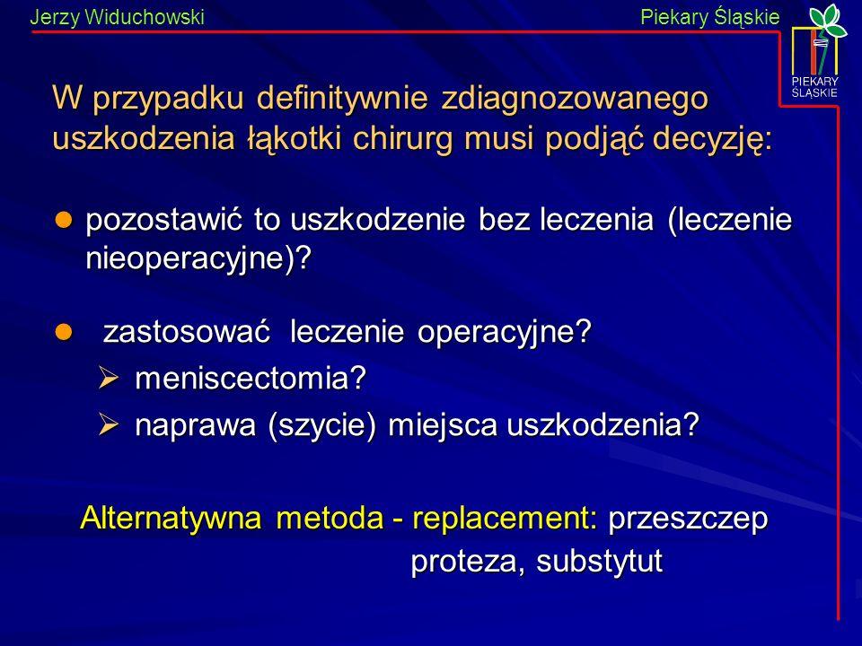 Piekary Śląskie Jerzy WiduchowskiPiekary Śląskie pozostawić to uszkodzenie bez leczenia (leczenie nieoperacyjne).