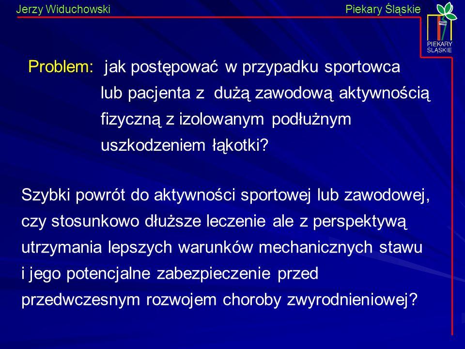 Piekary Śląskie Jerzy WiduchowskiPiekary Śląskie Szybki powrót do aktywności sportowej lub zawodowej, czy stosunkowo dłuższe leczenie ale z perspektyw