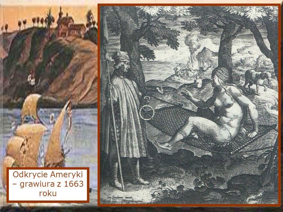 Odkrycie Ameryki – grawiura z 1663 roku