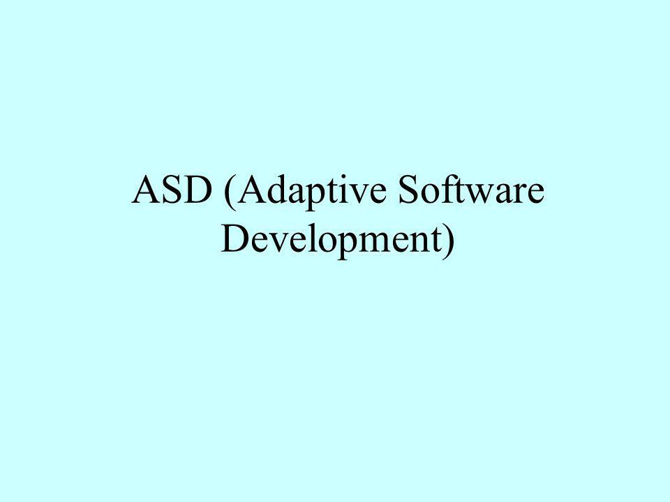 ASD (Adaptive Software Development)