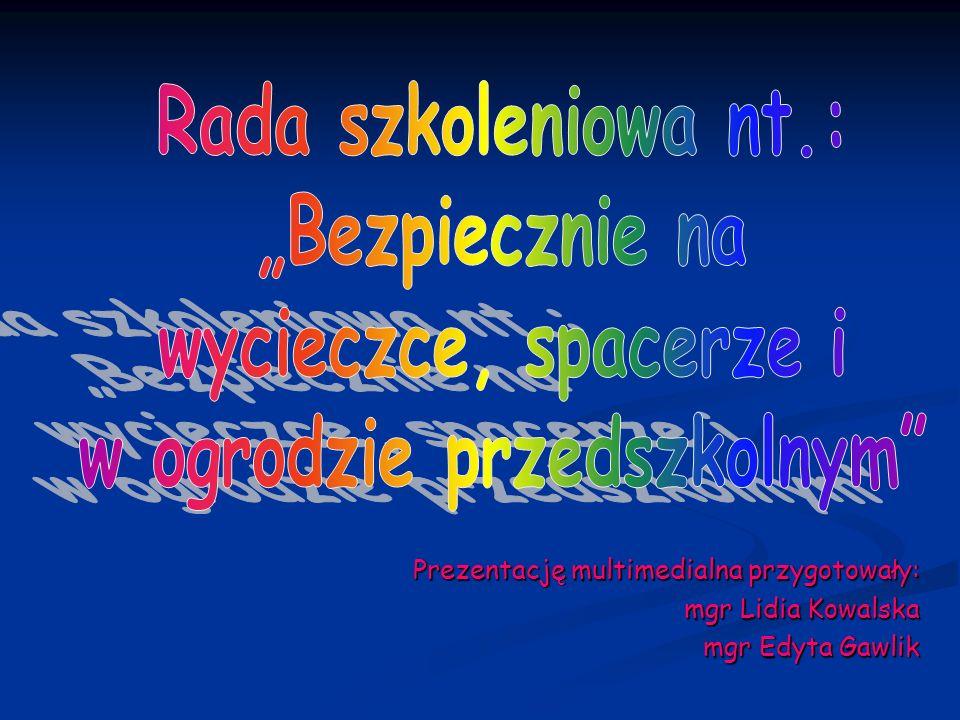 Prezentację multimedialna przygotowały: mgr Lidia Kowalska mgr Edyta Gawlik