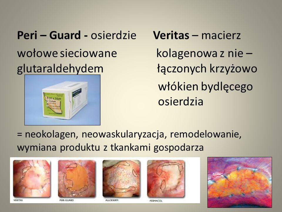 Peri – Guard - osierdzie Veritas – macierz wołowe sieciowane kolagenowa z nie – glutaraldehydem łączonych krzyżowo włókien bydlęcego osierdzia = neoko