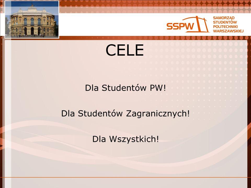 CELE Dla Studentów PW! Dla Studentów Zagranicznych! Dla Wszystkich!