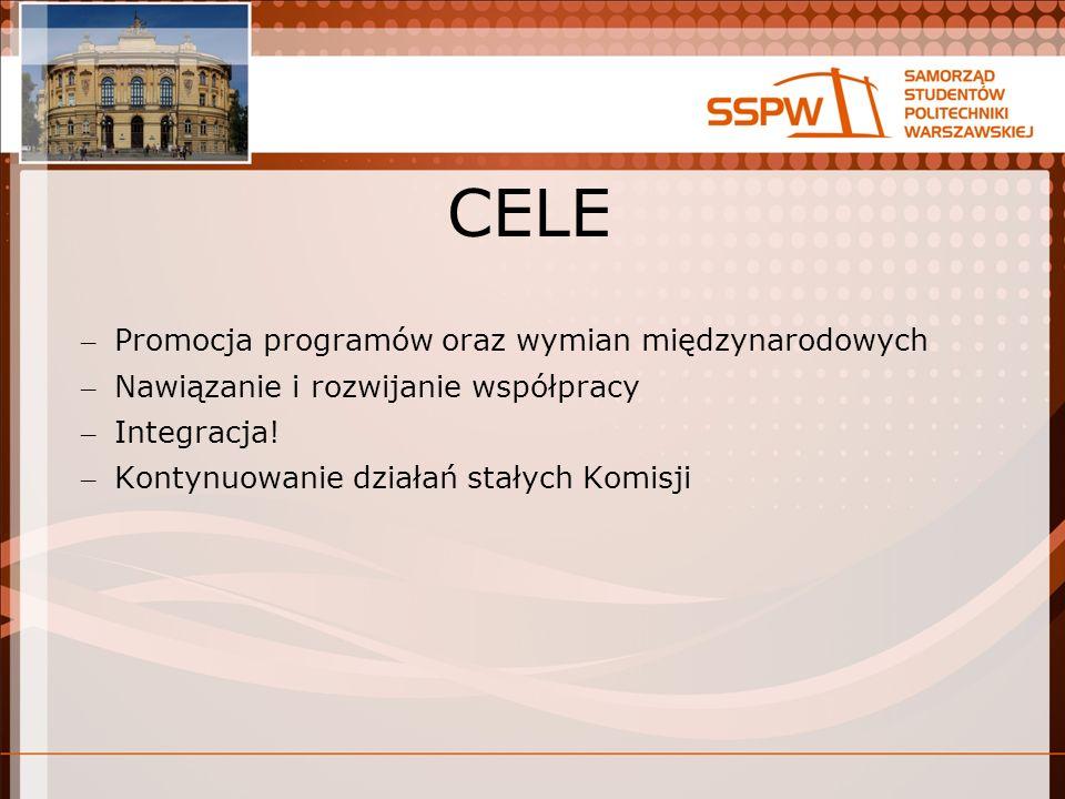 CELE – Promocja programów oraz wymian międzynarodowych – Nawiązanie i rozwijanie współpracy – Integracja.