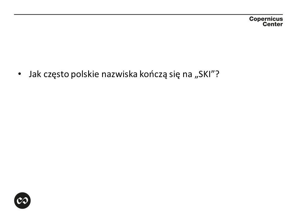 Jak często polskie nazwiska kończą się na SKI?