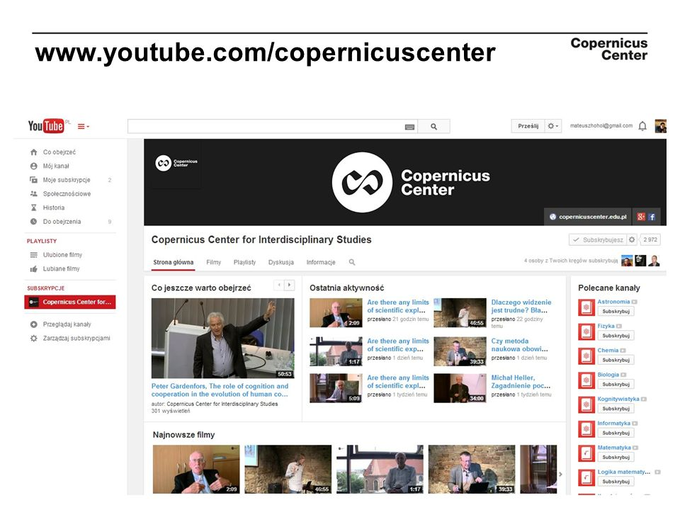www.youtube.com/copernicuscenter