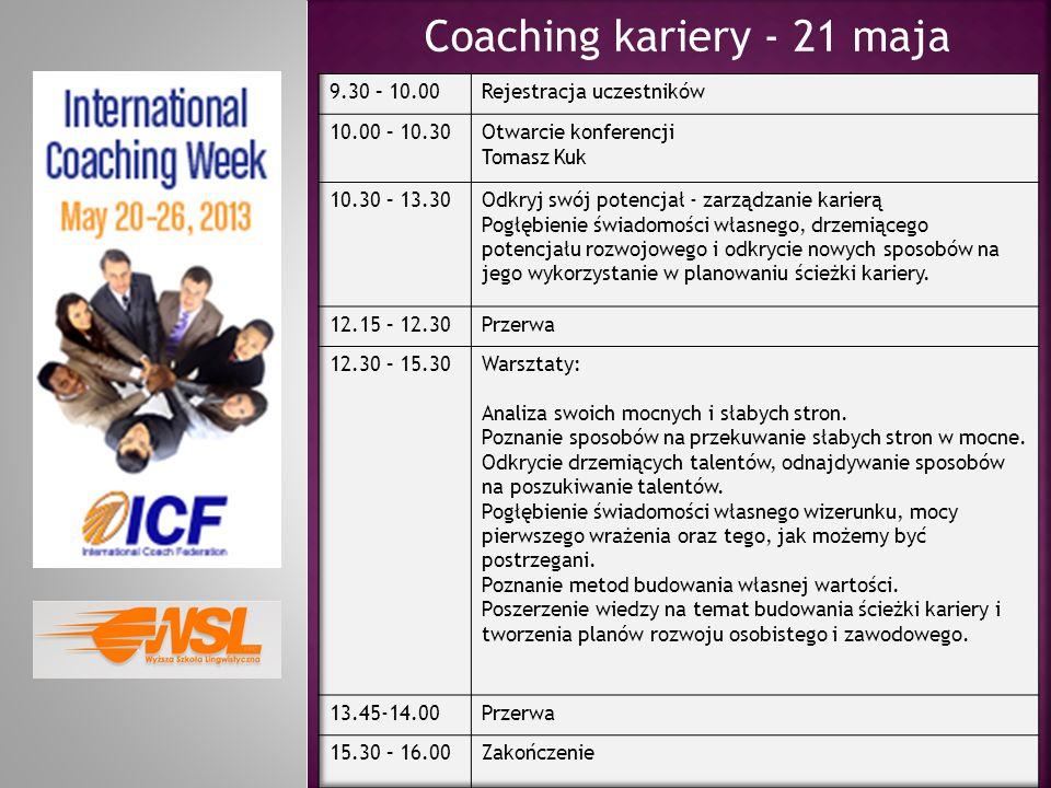 Coaching kariery - 21 maja