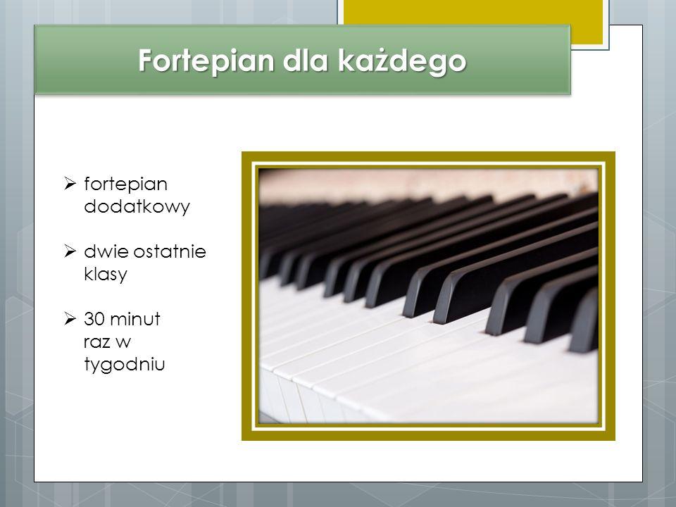 Fortepian dla każdego fortepian dodatkowy dwie ostatnie klasy 30 minut raz w tygodniu