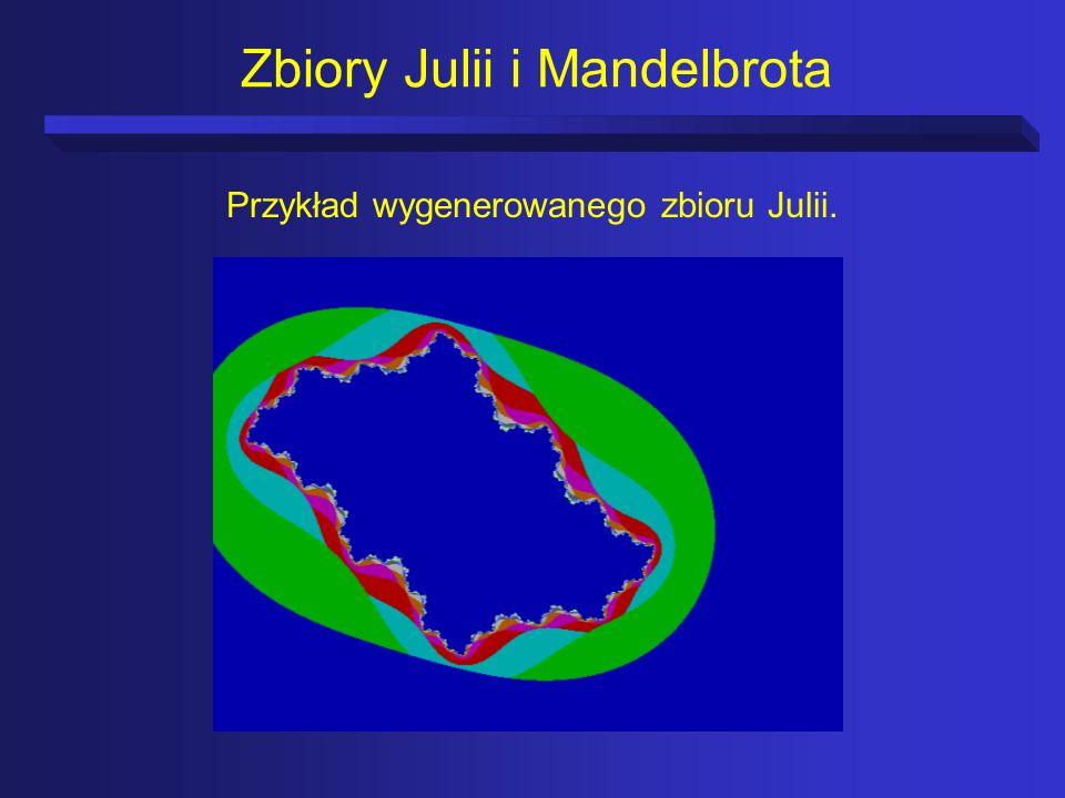 Zbiory Julii i Mandelbrota Przykład wygenerowanego zbioru Julii.