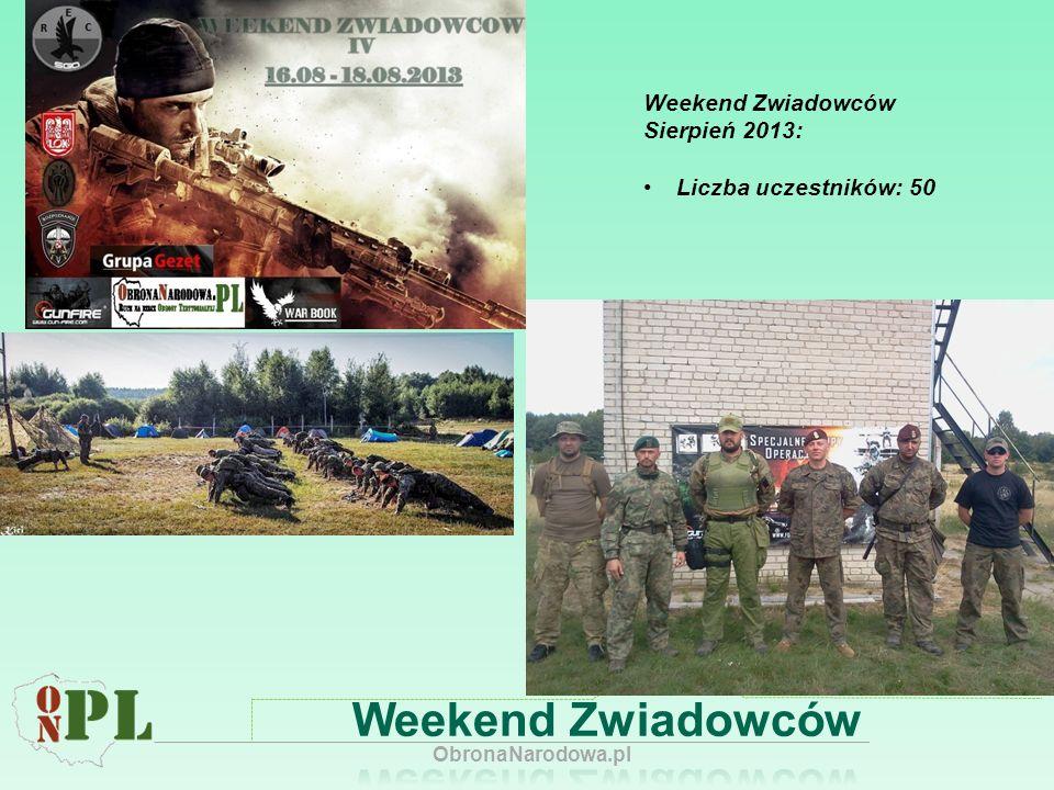 Weekend Zwiadowców Sierpień 2013: Liczba uczestników: 50