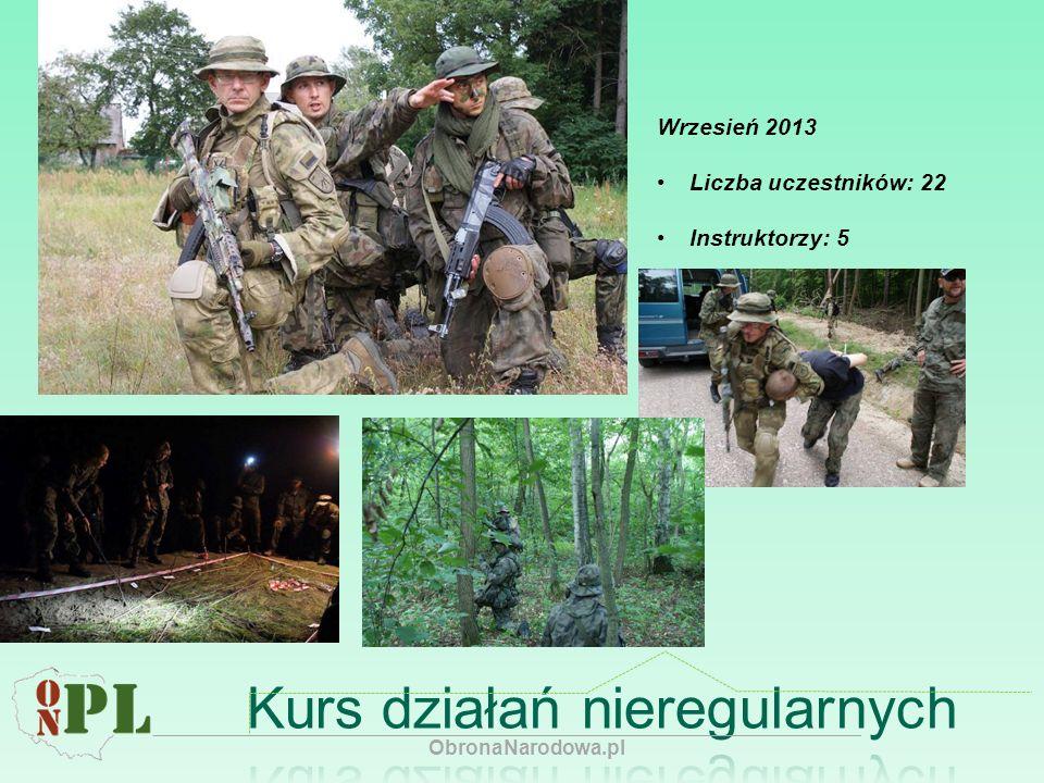 Wrzesień 2013 Liczba uczestników: 22 Instruktorzy: 5