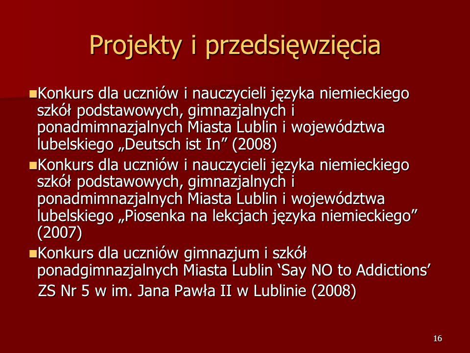 15 Projekty i przedsięwzięcia Festiwal Małe Formy Teatralne - 2006r.
