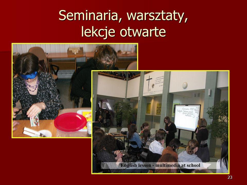 22 Seminaria, warsztaty, lekcje otwarte