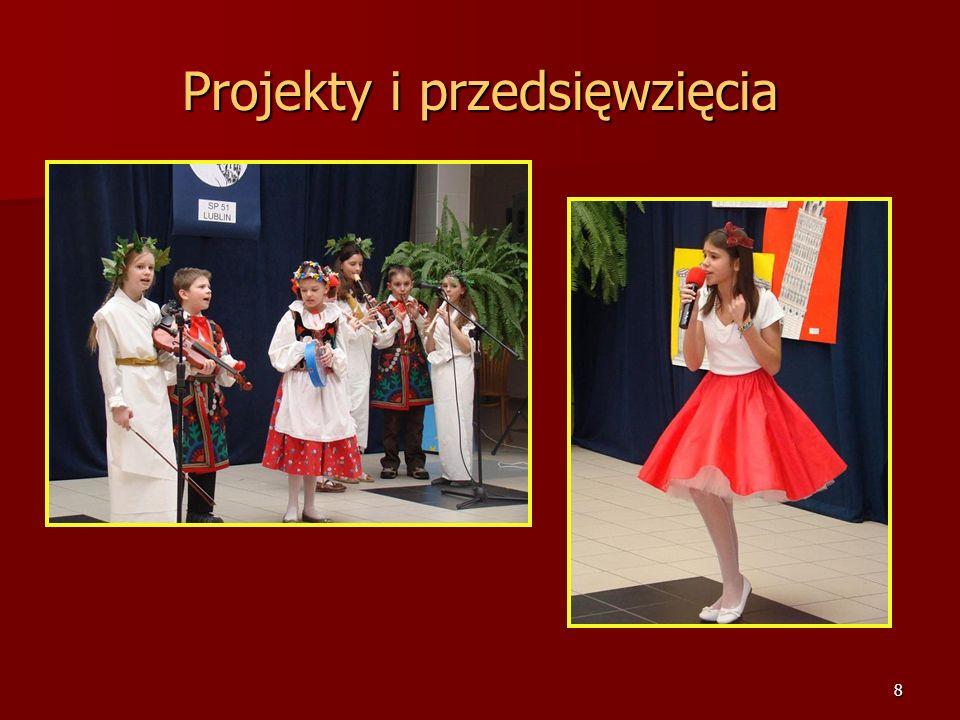 7 Projekty i przedsięwzięcia Festiwal Piosenki Europejskiej SP nr 51 im. Jana Pawła II w Lublinie 2008-2009r.