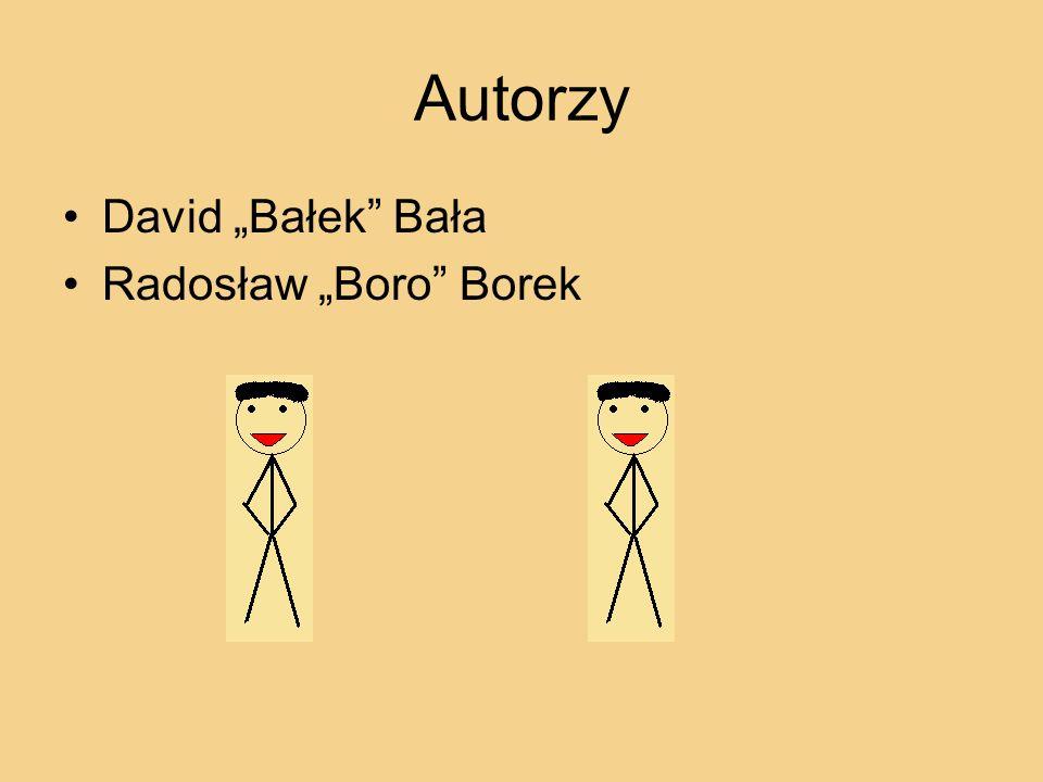Autorzy David Bałek Bała Radosław Boro Borek