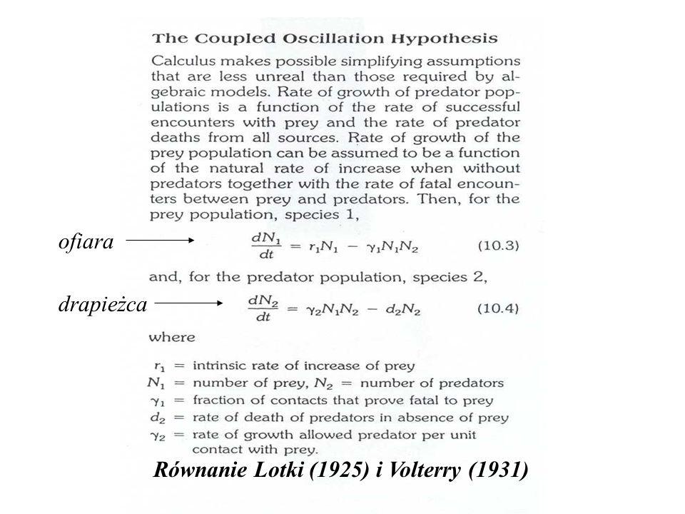 Równanie Lotki (1925) i Volterry (1931) ofiara drapieżca