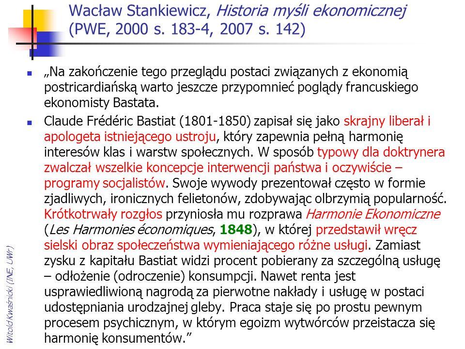 Janusz Górski, Zarys historii ekonomii politycznej, Warszawa, Książka i Wiedza, 1984 (wyd.